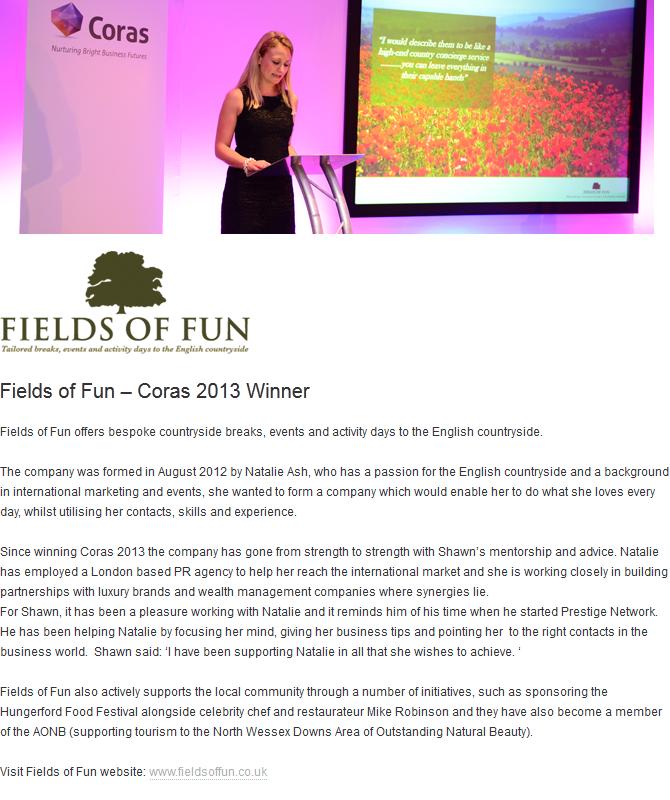 Coras 2013 Winner